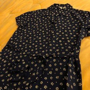 Vintage Gap Shirt Dress Floral
